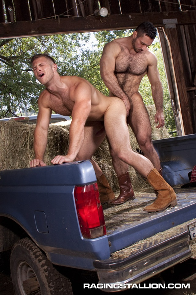 Furry muscle man Paul Wagner fucks Adam Champ tight ass at Raging Stallion 4 Download Full Gay Porn Gallery here