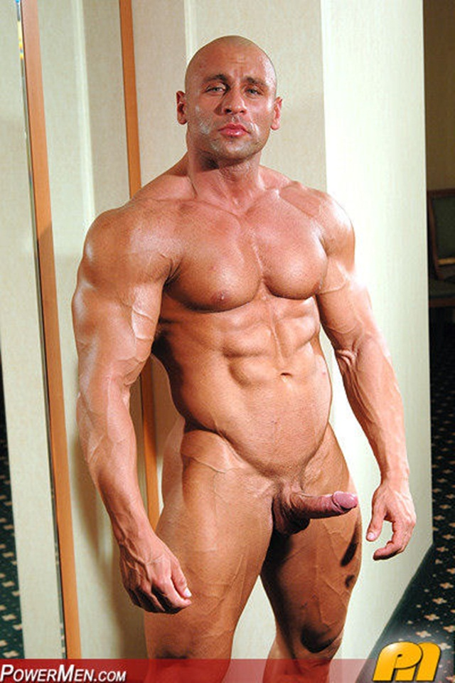 ... -Muscle-Bodybuilder-Strips-Naked-and-Strokes-His-Big-Hard-Cock-photo