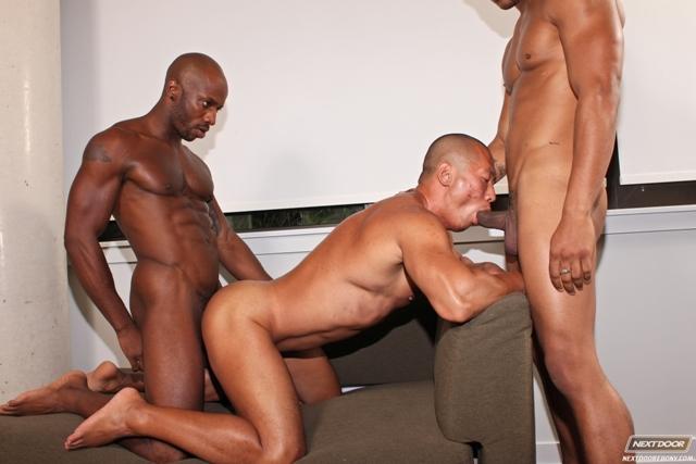 Black-gay-threesome-Race-Cooper-ass-fucks-Rob-Lee-Kiern-Duecan-Next-Door-Ebony-06-photo