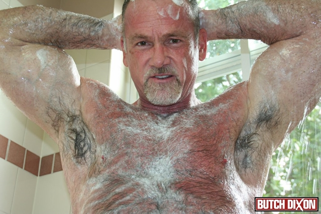 Butch-Dixon-silver-haired-hunk-older-mature-stud-Mickie-Collins-flexes-muscles-rubs-furry-tanned-skin-006-male-tube-red-tube-gallery-photo