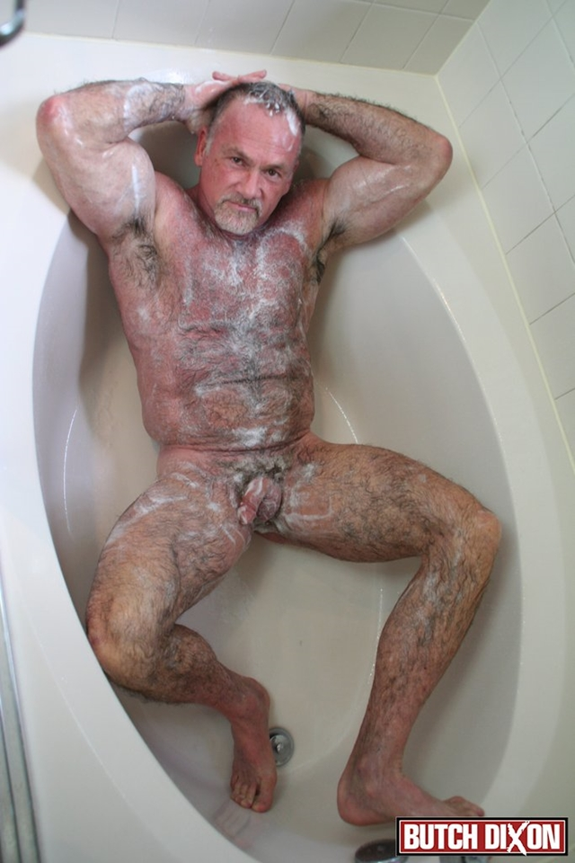 Butch-Dixon-silver-haired-hunk-older-mature-stud-Mickie-Collins-flexes-muscles-rubs-furry-tanned-skin-012-male-tube-red-tube-gallery-photo