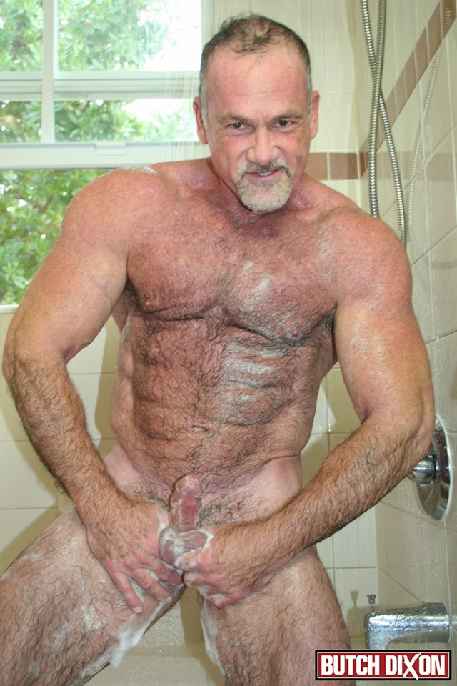 Butch-Dixon-silver-haired-hunk-older-mature-stud-Mickie-Collins-flexes-muscles-rubs-furry-tanned-skin-015-male-tube-red-tube-gallery-photo