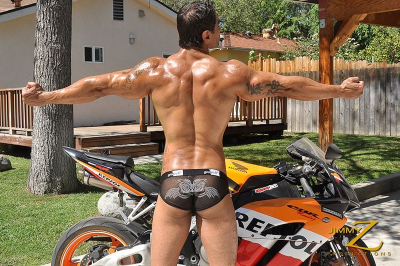 JimmyZProductions-naked-massive-bodybuilder-muscleman-Apollo-ripped-abs-and-full-pecs-motorcycle-rider-leathers-002-male-tube-red-tube-gallery-photo