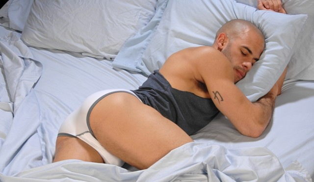 Austin Wilde start his day right jerking off his enormous thick cock