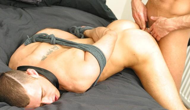Brandon Jones sucks Caleb Ramble's cock while getting dildo fucked