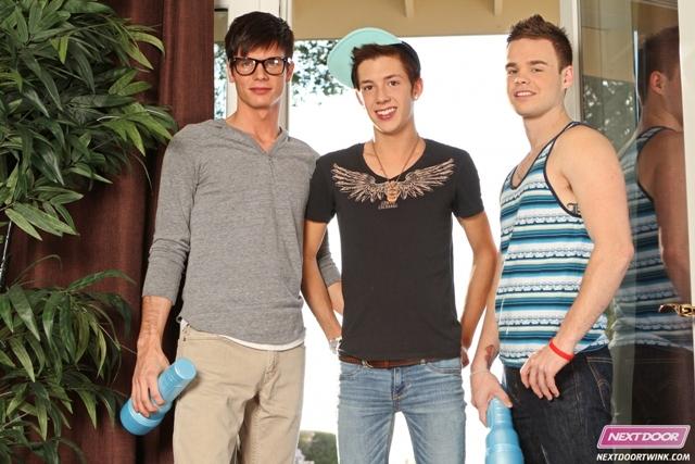 Twink orgy – Joey Hard, Christian Collins and Luke Allen at Next Door Twink