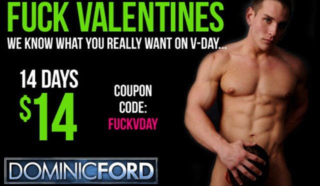 Dominic Ford: Fucks Valentine's Day‏ discount promo code today only!