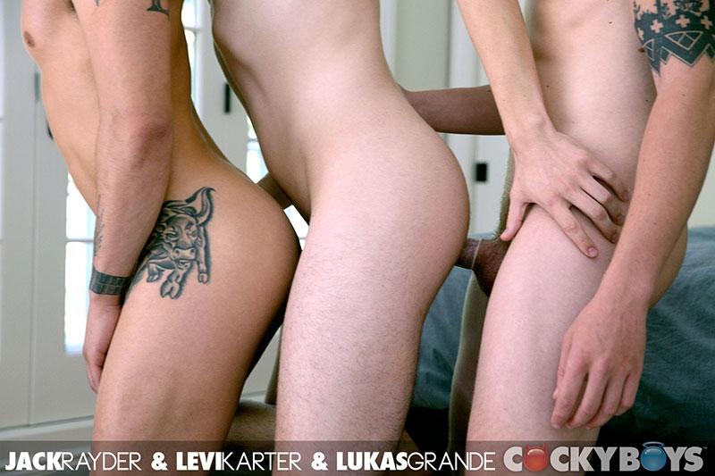 cocky boys  Levi Karter, Jack Rayder and Lukas Grande