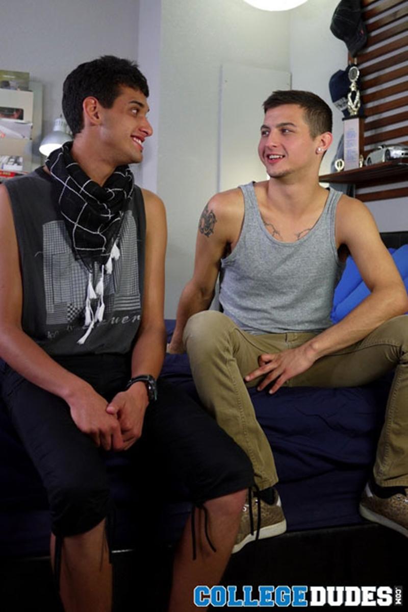 college dudes  Davey Anthony and Armando Torres