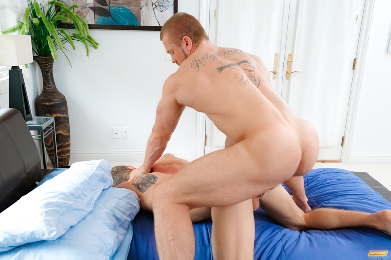 next door buddies  James Huntsman and Markie More