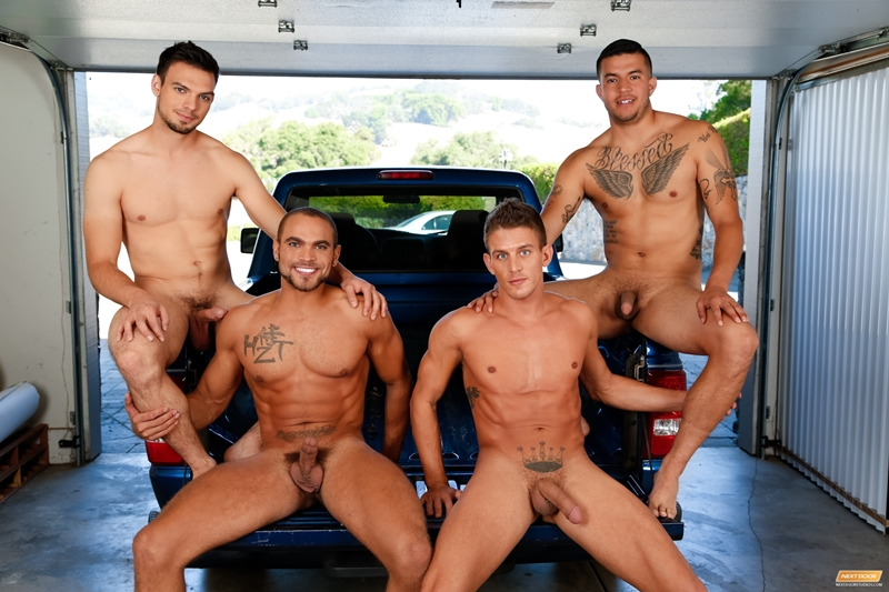 next door buddies  Alexander Gustavo, Brock Avery, Jason Maddox and Joey Rico