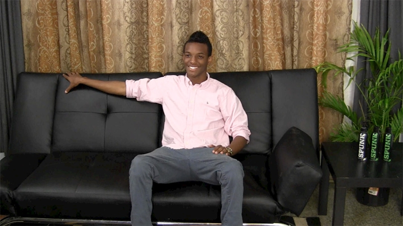 straight fraternity  College dude junior Liam jerks his big black cock
