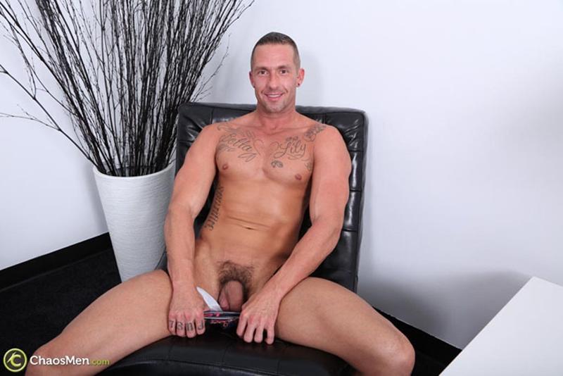 Addison jerks his big cock