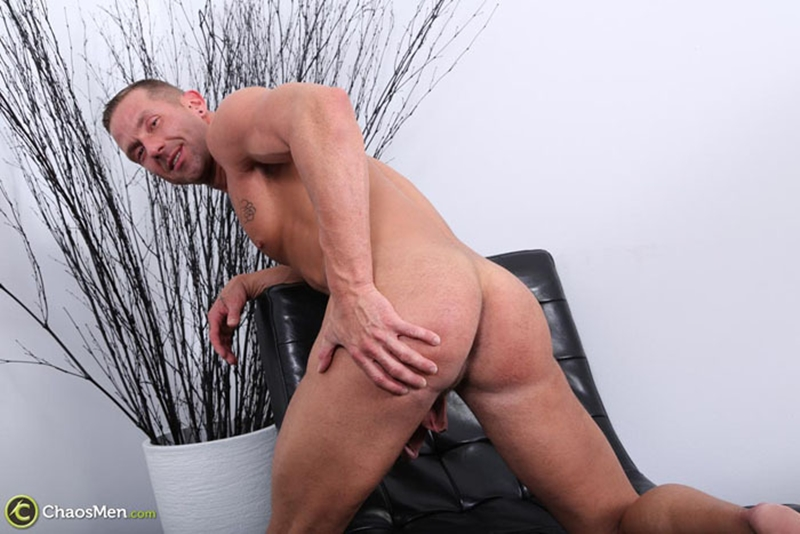chaos men  Addison jerks his big cock