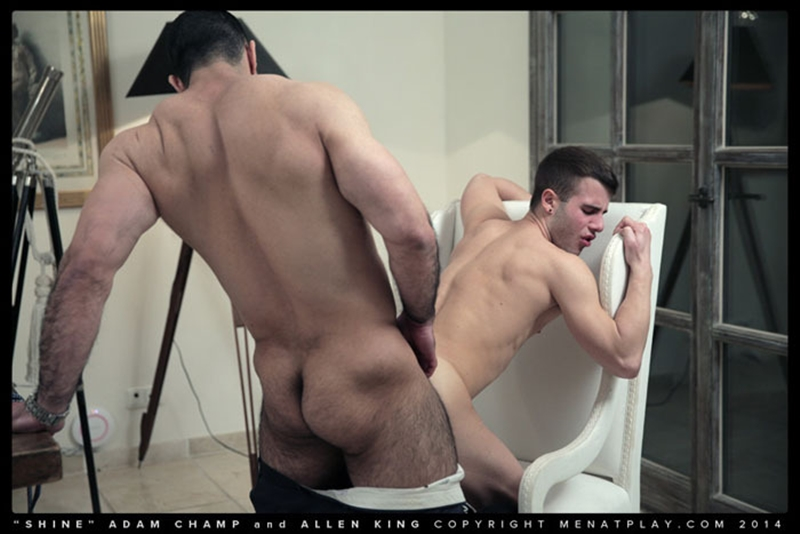 muscle men 2 men at play  Hairy chested hunk Adam Champ fucks Allen King