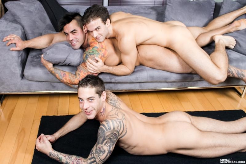 men of montreal  Gay gang bang Gabriel Clark, Ben Rose & Emilio Calabria fucking