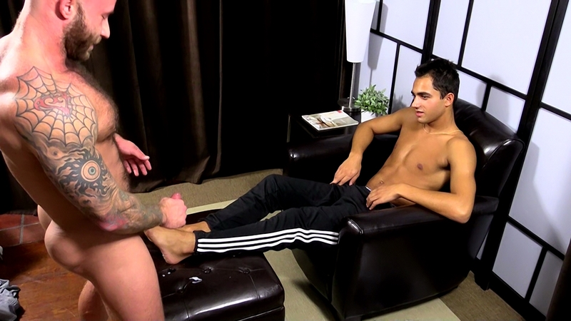 my friends feet  Drake Jaden worships Azifs size 11 bare feet