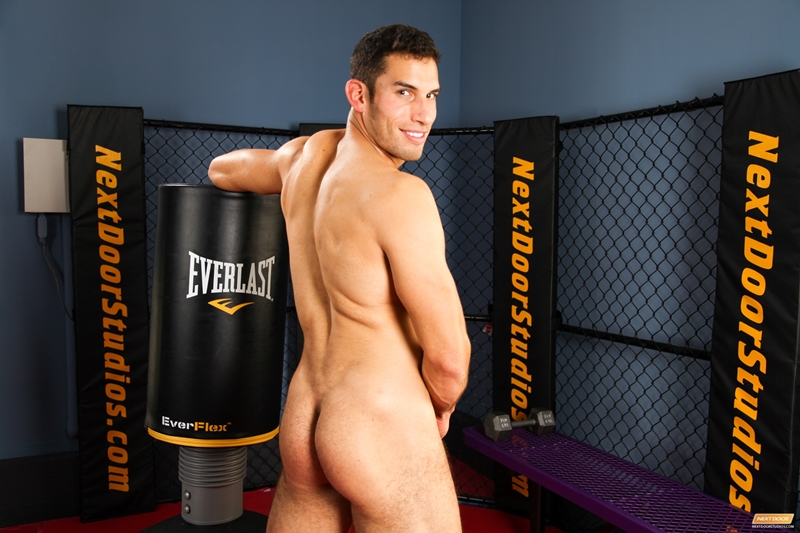 next door male  Young muscle stud Ricky Decker jerking