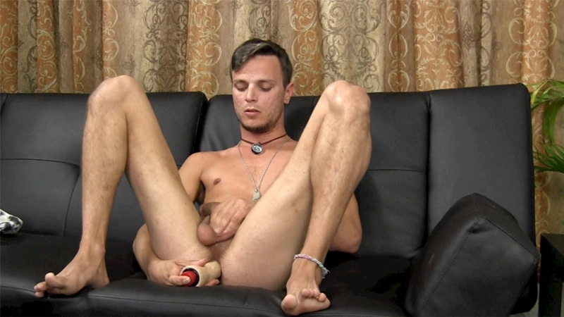 straight fraternity  Young straight Zach ass play wank