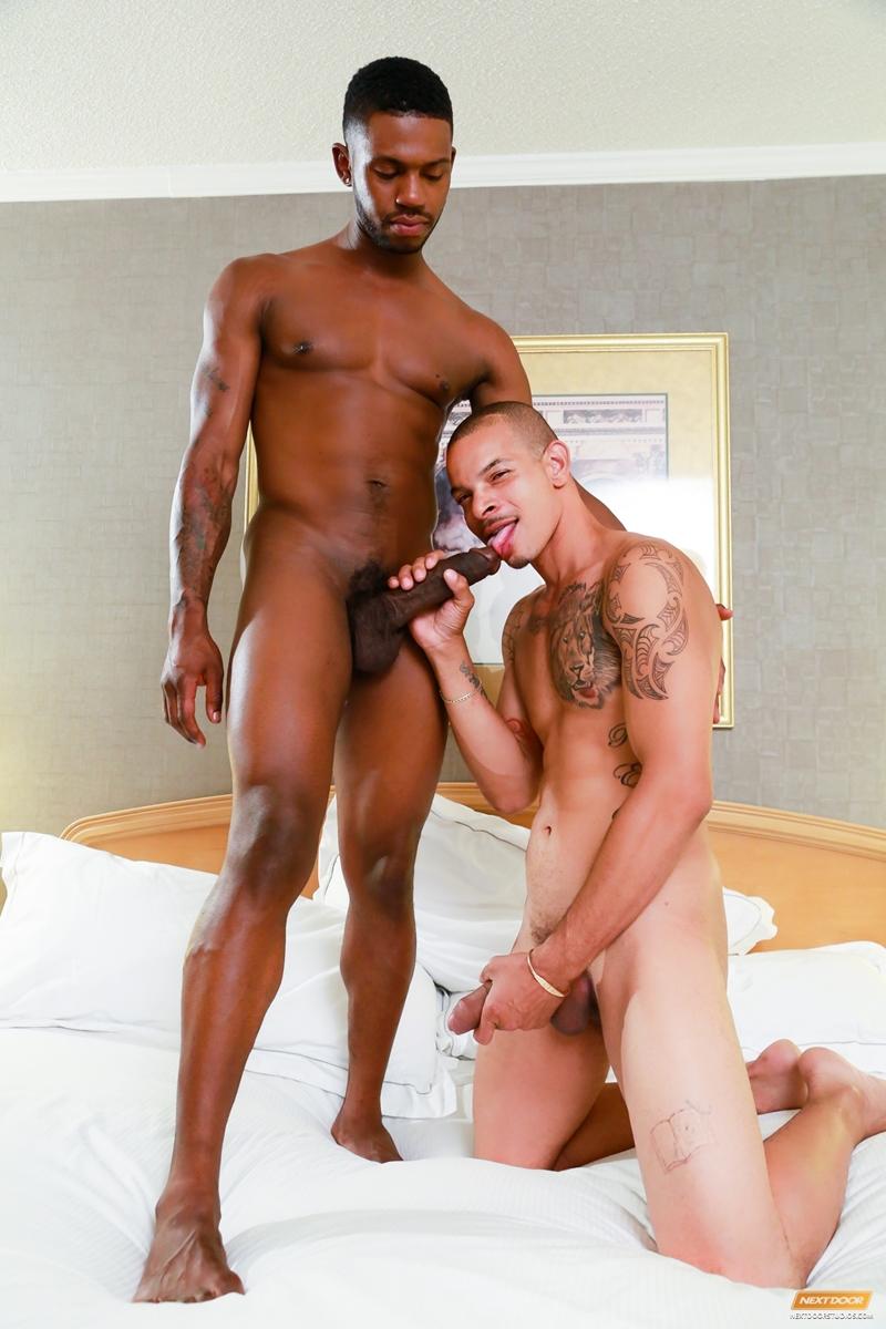 Gay black man taking big dick