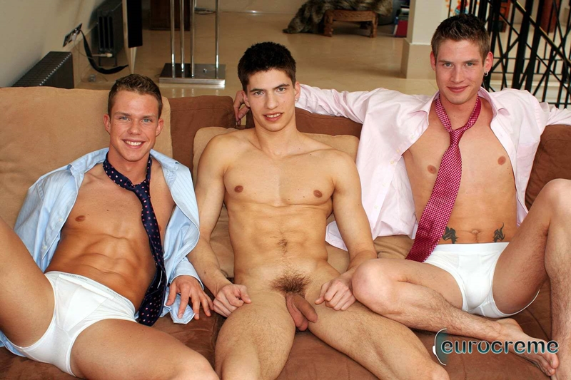 Horny threesome Johan, Nic and Richard, a trio of gorgeous young men