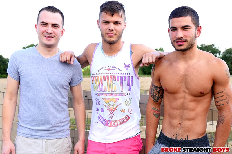 Straight threesome Gage Owens, Vadim Black and David Hardy hardcore ass fucking