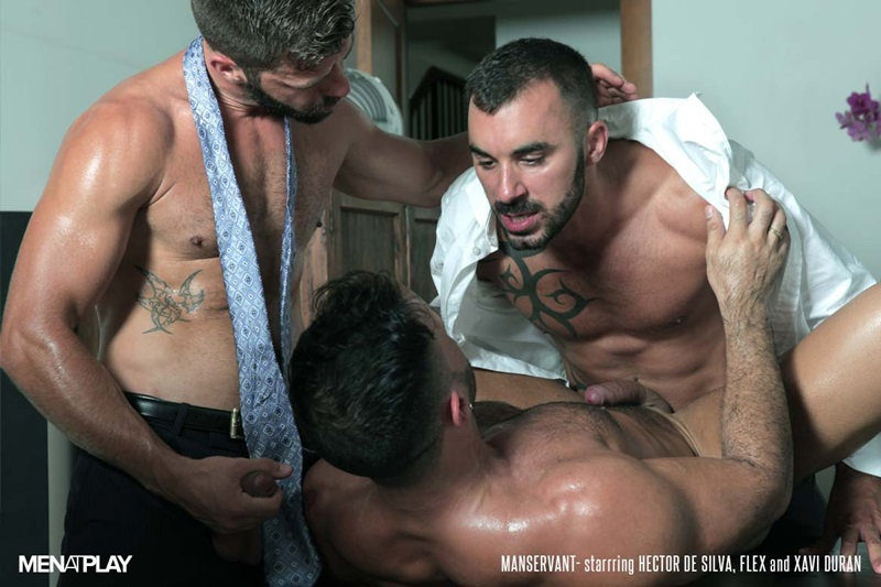 MenatPlay-Flex-Xtremmo-Hector-de-Silva-Xavi-Duran-naked-muscle-business-suit-men-fuck-rim-cock-doggy-style-fucking-Tag-Team-Spit-Roast-02-gay-porn-star-sex-video-gallery-photo