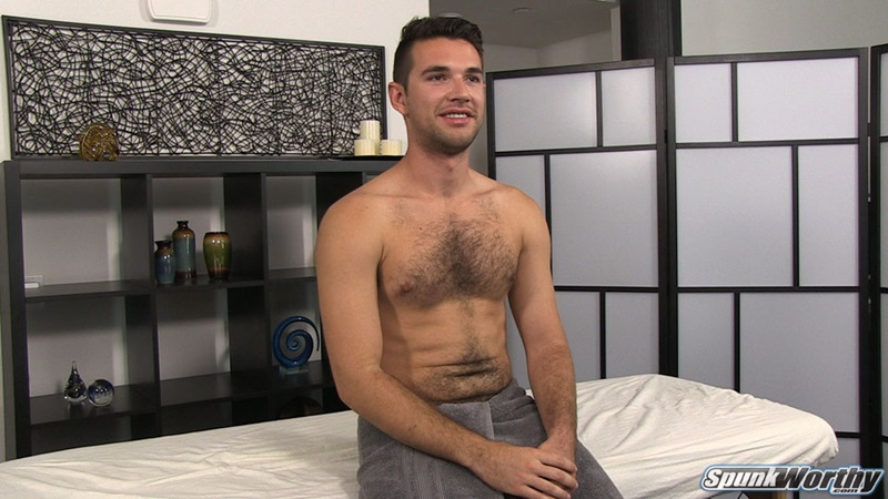 Derek's huge dick was already stiff when his all body massage got started