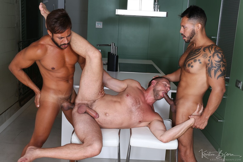 Hardcore threesome ass fucking Hans Berlin, Viktor Rom and Ansony