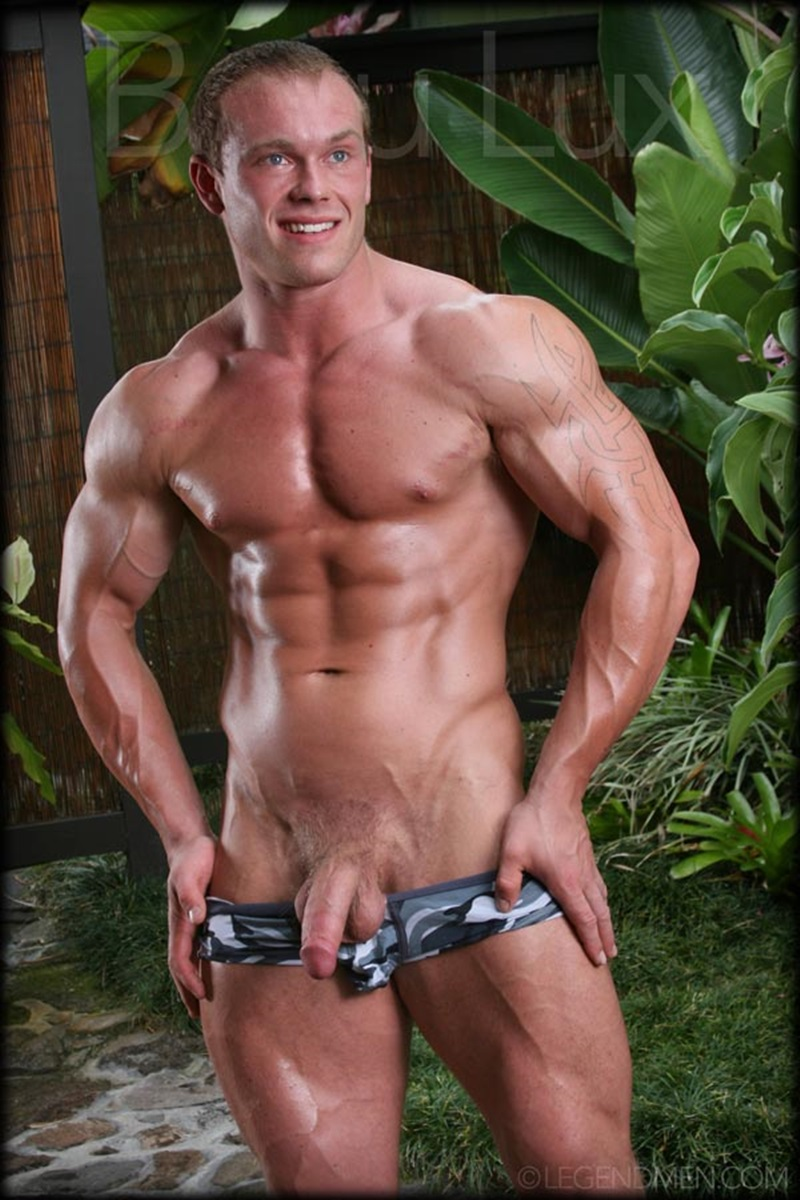 LegendMen-Massive-muscle-hunk-Beau-Lux-naked-bodybuilder-camouflage-underwear-thick-cock-shaved-pubes-wanks-young-muscle-dude-02-gay-porn-star-sex-video-gallery-photo
