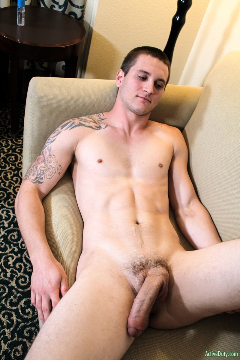 Hunky nude guy with a large cock