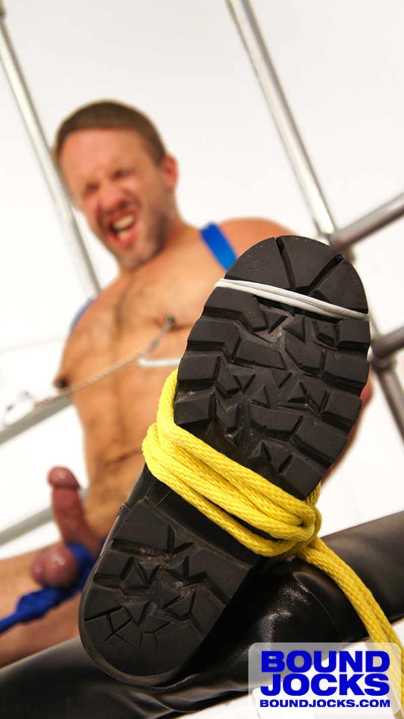 BoundJocks-Bound-jock-Dirk-Caber-hog-tied-jock-strap-vibrating-nipple-clamps-naked-weight-hangs-balls-pain-cums-cumshot-BDSM-012-gay-porn-sex-gallery-pics-video-photo