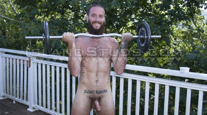 IslandStuds-hairy-straight-dude-naked-hairy-chest-Keanu-muscle-man-piss-jerking-big-thick-dick-naturist-outdoors-nudity-001-gay-porn-sex-gallery-pics-video-photo