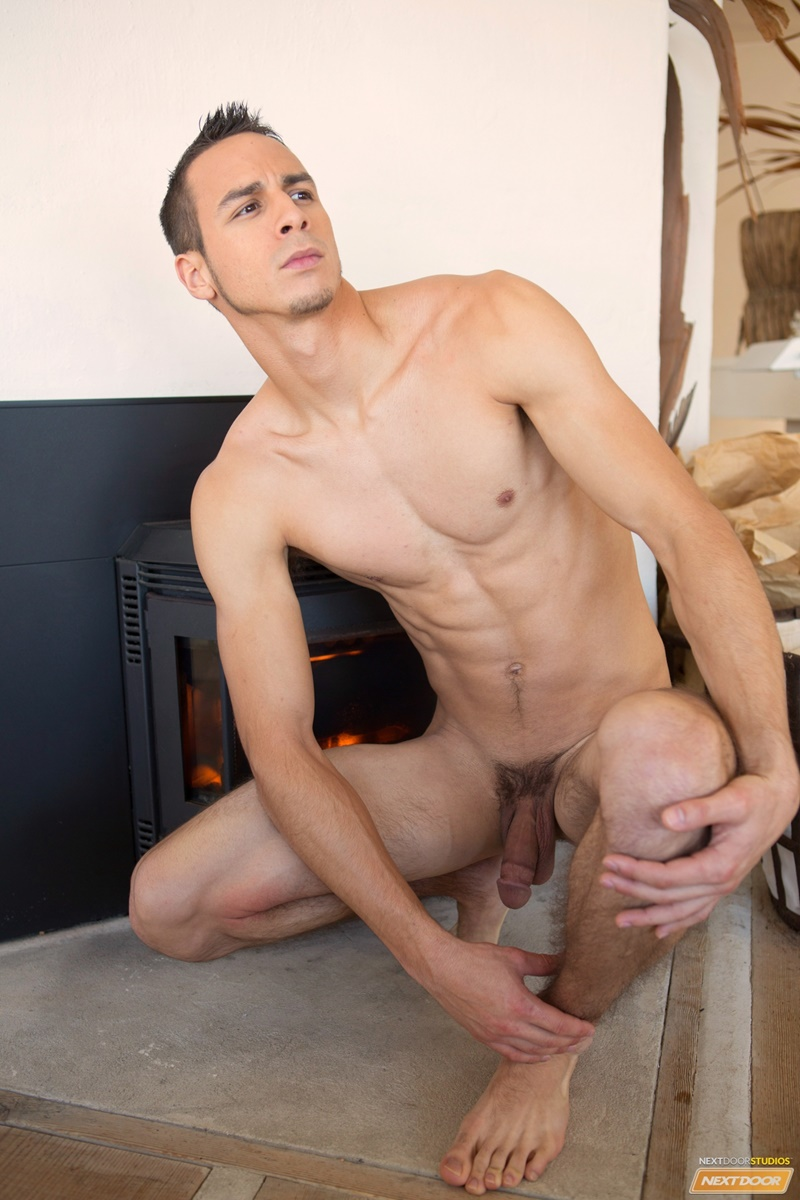 Tall Master Stretches Naked Tanned Girl Who Works