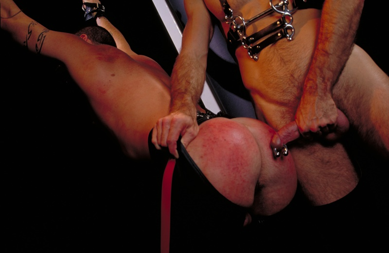Scott Samson forced to worship Justin Southall's boots and pierced Prince Albert cock