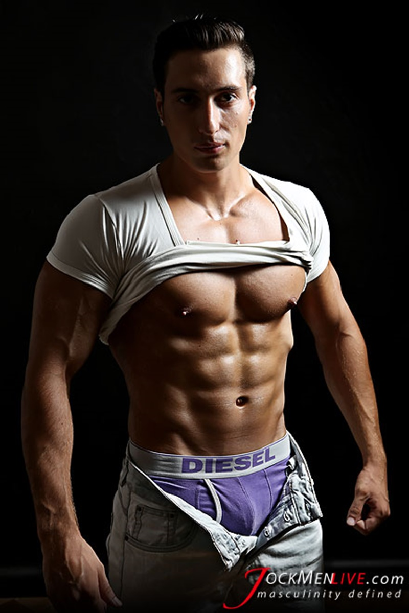 Jock Men Live Hot Nicholas shows off his big muscled body that's why we love him