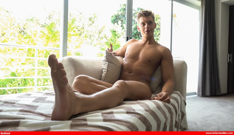 Sexy ripped muscle boy Christian Lundgren jerks his huge twink dick to a massive load of creamy cum