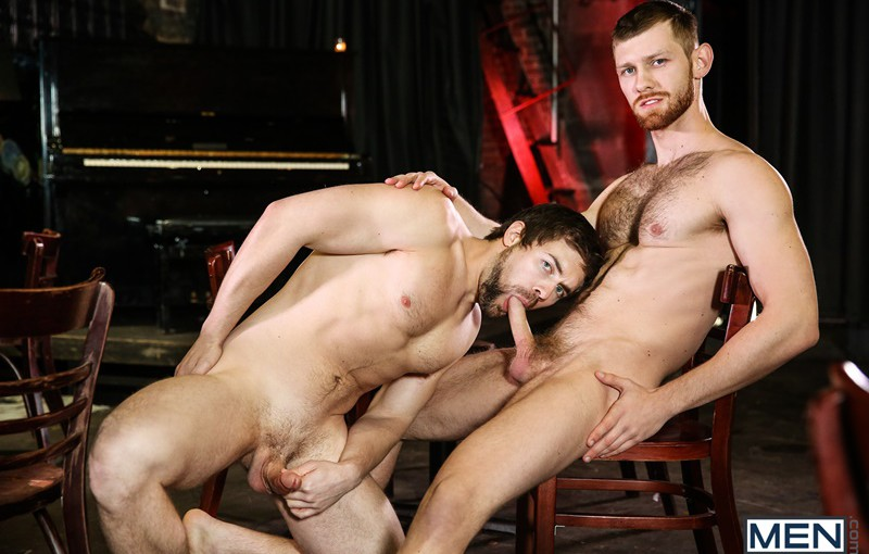 Sexy young nude dudes Griffin Barrows and Jacob Peterson hardcore ass fucking orgy