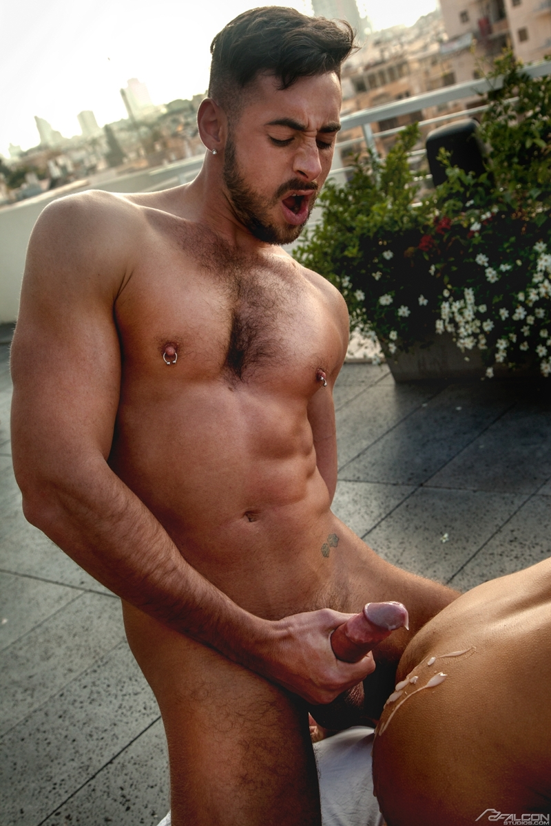 Men for Men Blog Klein-Kerr-Massimo-Piano-naked-muscle-men-fucking-giant-cock-FalconStudios-015-gay-porn-pictures-gallery Klein Kerr gets his hot ass hole filled bouncing up and down on Massimo Piano's giant cock Falcon Studios