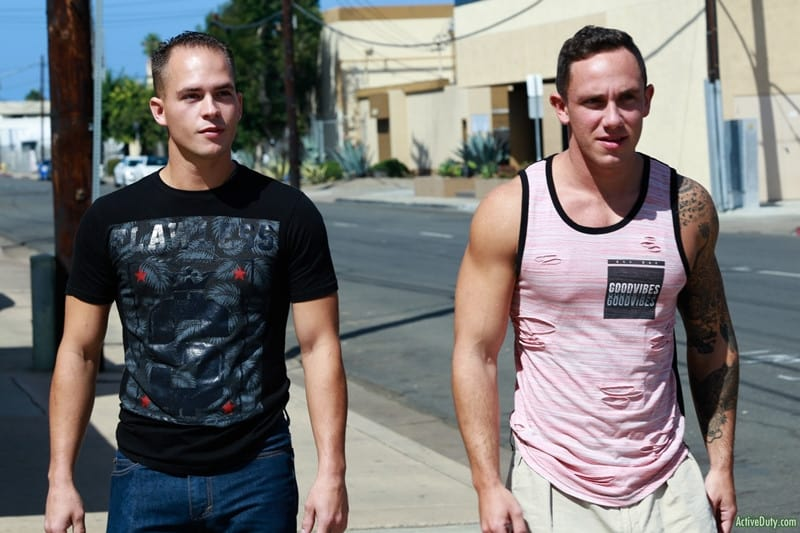 Men for Men Blog Cole-Weston-Richard-Buldger-hard-erect-dick-sucking-fucks-the-cum-hot-asshole-ActiveDuty-004-gay-porn-pictures-gallery Cole Weston bends Richard Buldger and pushes his hard cock deep into Richard's tight ass making him moan with pleasure Active Duty