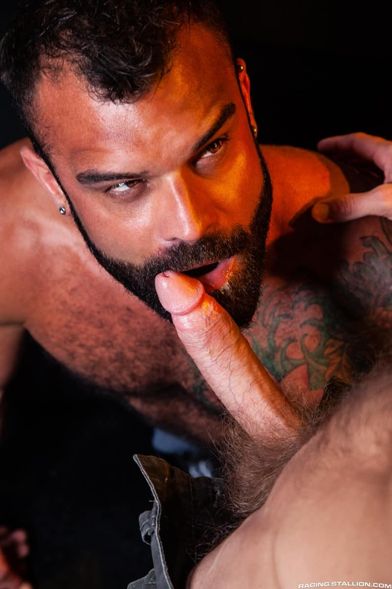 Men for Men Blog James-Stevens-Drake-Masters-hot-tattooed-big-muscle-dudes-cocksucking-huge-throbbing-cock-RagingStallion-010-gay-porn-pictures-gallery James Stevens loves the way Drake Masters' mouth feels wrapped around his huge throbbing cock Raging Stallion