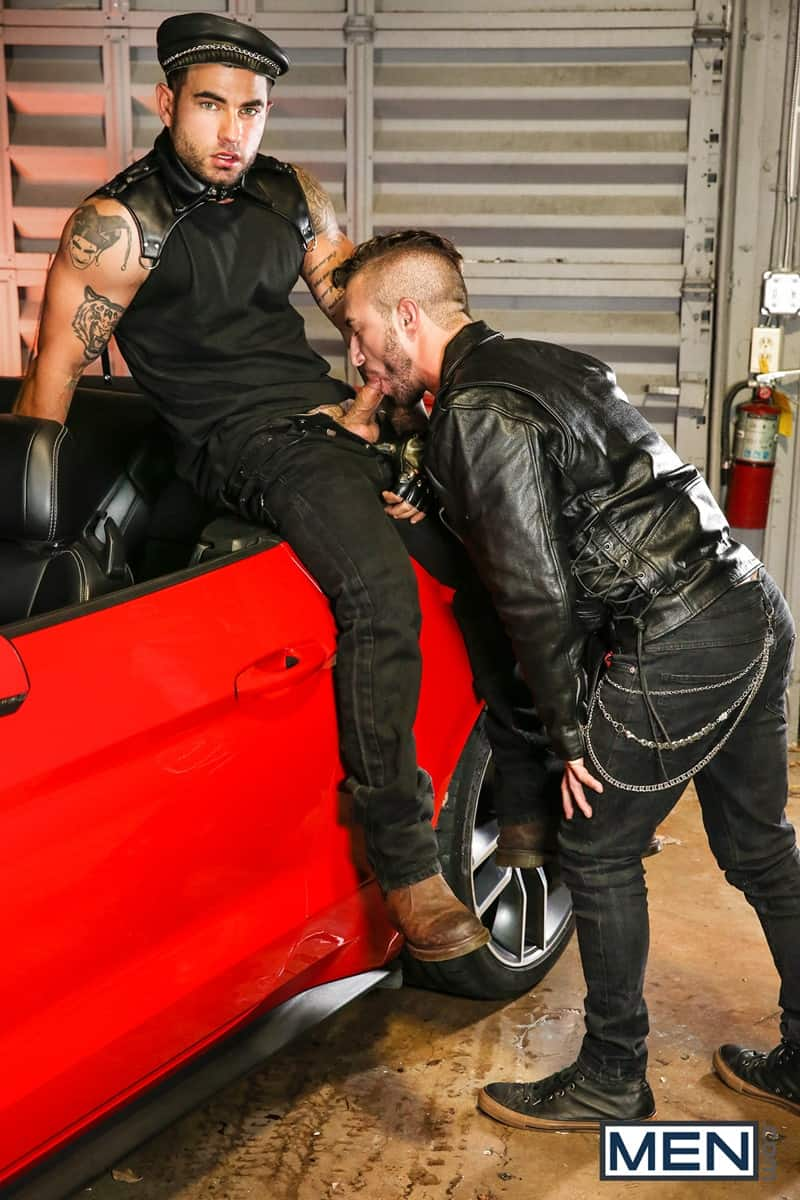 Men for Men Blog Vadim-Black-Grant-Ryan-strip-nude-sexy-dudes-sucking-huge-cocks-off-Men-008-gay-porn-pictures-gallery Vadim Black and Grant Ryan strip out of their leather driving gear sucking each other's huge cocks off Men