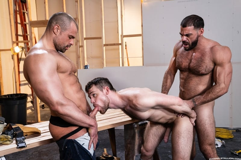 Men for Men Blog Gay-Porn-Pics-001-Ricky-Larkin-Jaxx-Thanatos-Kurtis-Wolfe-Hardcore-gay-threesome-spit-roast-hot-asshole-RagingStallion Hardcore gay threesome Ricky Larkin and Jaxx Thanatos spit roast Kurtis Wolfe's hot asshole Raging Stallion