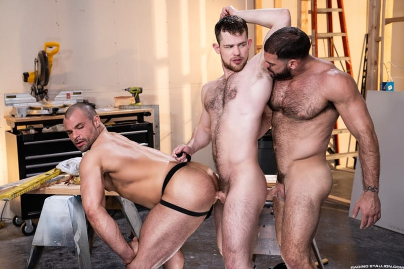 Men for Men Blog Gay-Porn-Pics-011-Ricky-Larkin-Jaxx-Thanatos-Kurtis-Wolfe-Hardcore-gay-threesome-spit-roast-hot-asshole-RagingStallion Hardcore gay threesome Ricky Larkin and Jaxx Thanatos spit roast Kurtis Wolfe's hot asshole Raging Stallion