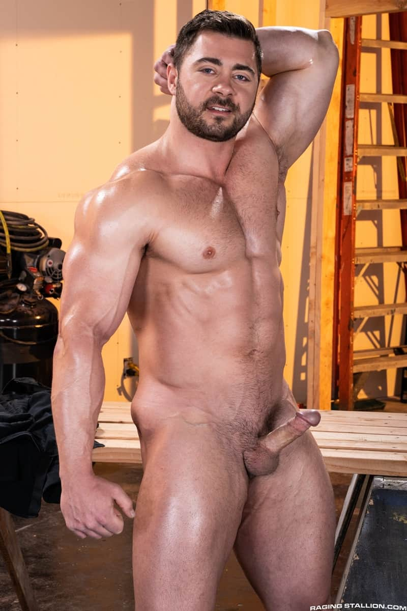 Men for Men Blog Gay-Porn-Pics-004-Derek-Bolt-Jay-Landford-naked-muscle-men-huge-cock-fucking-hot-asshole-RagingStallion Derek Bolt moans with each thrust from Jay Landford's huge cock pummeling his hot asshole Raging Stallion