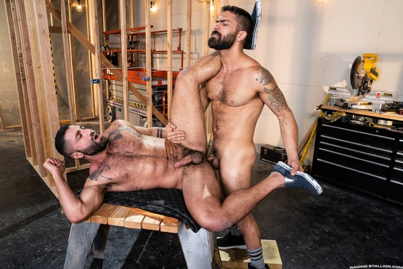 Men for Men Blog Gay-Porn-Pics-013-Adam-Ramzi-Sharok-Hairy-muscle-hunk-anal-fuck-huge-raw-cock-deep-ass-crack-RagingStallion Hairy muscle hunk Adam Ramzi slides his huge raw cock deep into Sharok's ass crack Raging Stallion